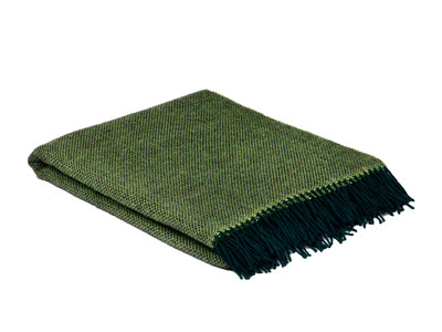 Pure wool throw