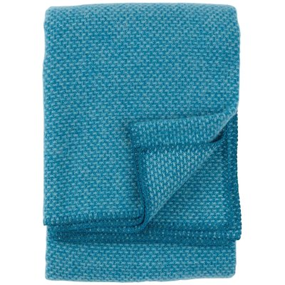 Klippan wool throw - Domino petrol