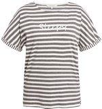 Peolple Tree stripe pyjama shirt met korte mouw_