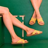 Shangies slipper geel