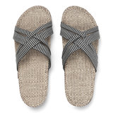 Shangies slippers dames zwart-gestreept_