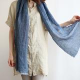 Lino e Lina linnen sjaal blauw