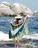 Mungo Folly beach towel blue crab_