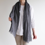 Linen sjaal in wafelpatroon