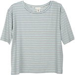 Serendipity jersey tee dusty blue and cream stripes