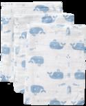 Fresk washandjes Whale blue fog (set van 3)