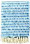 Klippan wollen plaid Mosaik Multi Blue