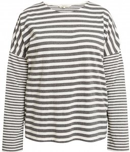 People Tree stripe pyjama shirt met lange mouw