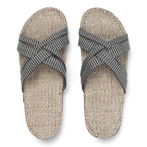 Shangies slippers dames zwart-gestreept