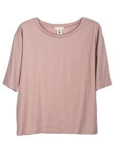 Serendipity jersey tee dusty heather with small cream dots
