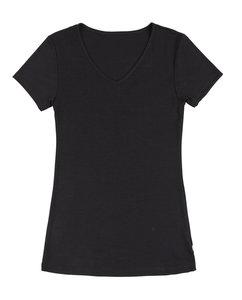 Joha dames wollen t-shirt Sara zwart