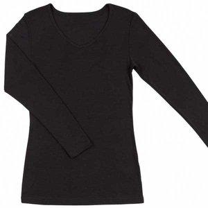 Joha dames wollen lange mouwen shirt Sara zwart