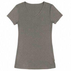 Joha dames wollen t-shirt Sara bruin